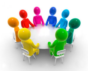 Professional Associations executives meeting around a table